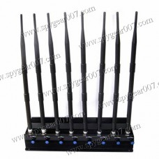 8-FREQUENCY STATIONARY JAMMER GSM / 3G / WI-FI / GPS / 4G / LOJACK